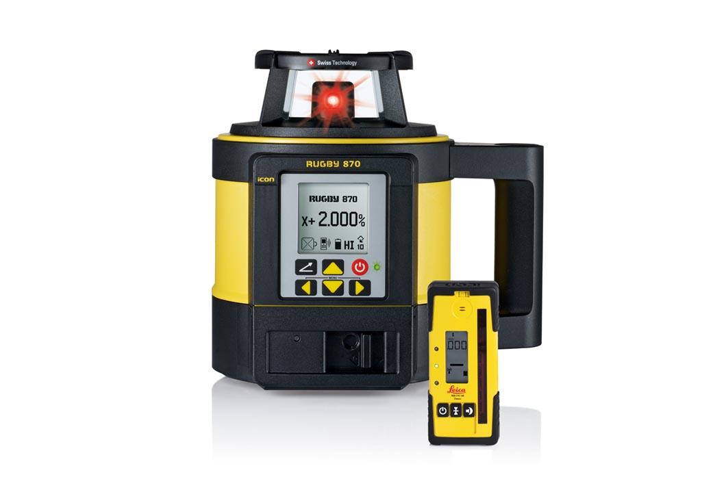Nivel l ser leica rugby 870 con receptor re 140 grupo - Nivel con laser ...