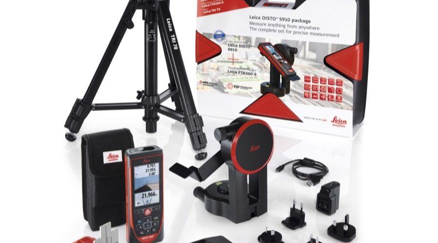 Video Leica DISTO S910 + Adaptador + trípode + Tablilla de puntería