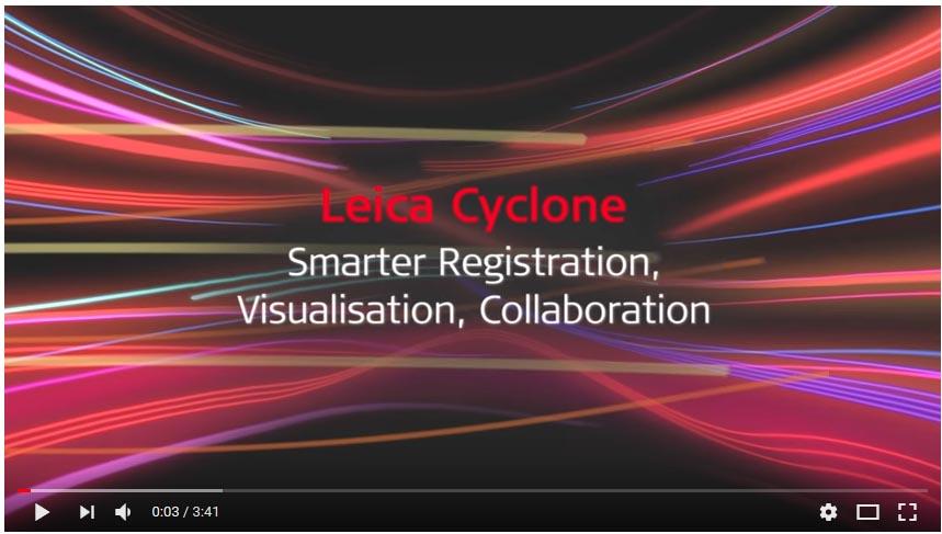Video Software de procesamiento de nubes de puntos Leica Cyclone