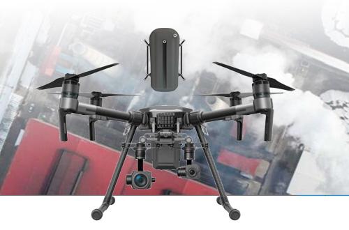 Detecte fugas de gases con dron