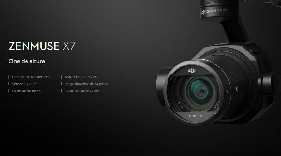 Video Cámara para dron DJI Zenmuse X7