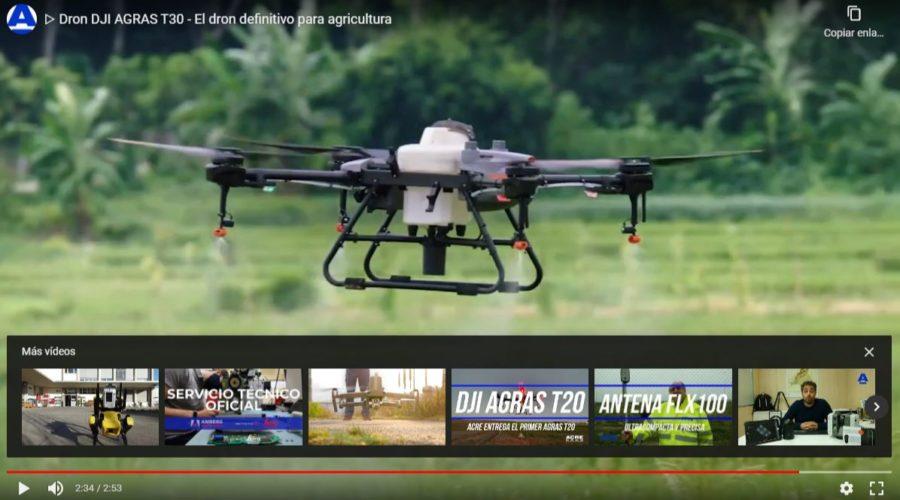 Video Dron DJI AGRAS T10 para agricultura de precisión